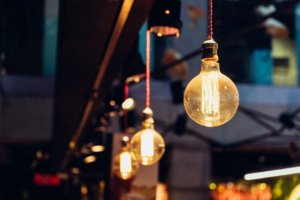 Lights in a restaurant